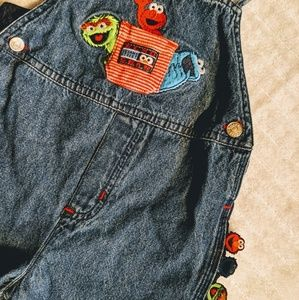 🎈SESAME STREET BIB OVERALL WITH ADORABLE DETAILS